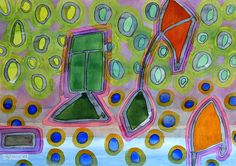 Colorful Kites by Heidi Capitaine #Art#Artist#Painting#Contemporary#Watercolour#Abstract#FineArt#WallArt