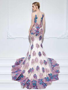 Ericdress Mermaid V-Neck Appliques Lace Flowers Court Train Evening Dress Evening Dresses 2016- ericdress.com 12095498