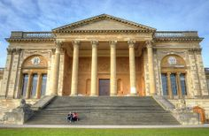 Stowe House, via Flickr. Manor Houses, Country Houses, Victorian Houses, Country Estate, Corinthian, Neoclassical, How To Run Longer, Bungalow, Palace