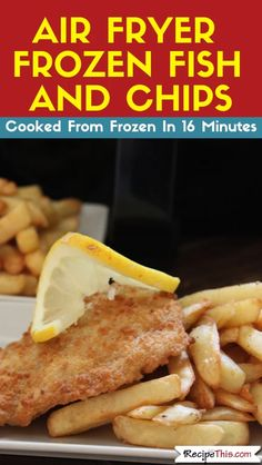 Air Fryer Frozen Fish And Chips. How to cook your favourite frozen breaded or battered fish and chips in the air fryer. Perfect for Friday Night Air Fryer Fish & Chips Supper! #airfryer #airfryerrecipes #airfryerfish #airfryerfishrecipes #airfryercod #fishandchips #airfryerfishandchips #airfryerfrozenfish #airfryerfrozen