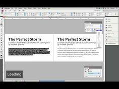This tutorial shows you how to adjust leading (line spacing), kerning, and letter-spacing (tracking).