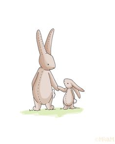 Bunny Love CHILDRENS ART Nursery Decor 8x10 by Meant4amoment, $12.00