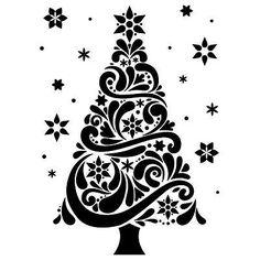 darice embossing folder christmas tree 1218 118 076035 christmas tree images christmas - Black And White Christmas Tree