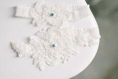 lacy wedding garters