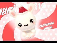 DIY Kawaii Polymer Clay Christmas Bunny Tutorial