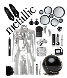 """""""Metallic Silver"""" by modern-glam-designs on Polyvore featuring Yves Saint Laurent, Givenchy, Kre-at Beauty, Urban Decay, Ardency Inn, Bare Escentuals, Bobbi Brown Cosmetics, Marc Jacobs, Tom Ford and Victoria's Secret"""