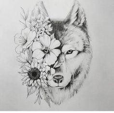 Wolf tattoo - tatoo feminina - Tattoo World Wolf Tattoo Design, Tattoo Wolf, Husky Tattoo, Two Wolves Tattoo, Wolf Tattoo Meaning, Wolf Tattoo Back, Wolf Design, Mandala Tattoo Design, Kunst Tattoos