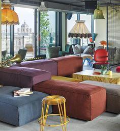 gemütliche Möbel die auch Farbe machen
