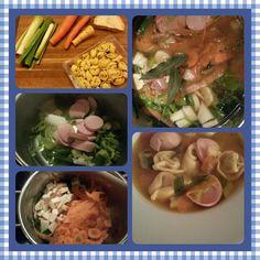 Italian Tortelli soup on my blog