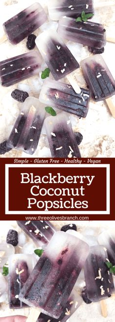 Quick and simple healthy popsicle recipe. Coconut water, blackberries and a little sugar (optional) for a fun and sweet kid friendly summer treat. Vegan, vegetarian, gluten free (GF) and can be paleo…More Coconut Popsicles, Healthy Popsicles, Healthy Snacks, Fruit Popsicles, Healthy Sweets, Healthy Nutrition, Eating Healthy, Pineapple Health Benefits, Turmeric Health Benefits