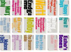 TYPO London 2012 speaker Henrik Kubel A2/SW/HK:   Samuel Beckett, complete works, 2009—2010, Faber & Faber, London  Cover design & bespoke typefaces  http://typotalks.com/london/2012/speakers/