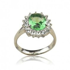 Fashion Diamante Green Faux Crystal Ring For Women, AS THE PICTURE, ONE SIZE in Rings | DressLily.com