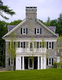 longpantsatlast:  thefoodogatemyhomework:  Side elevation of total and complete grey stone perfection by Catalano Architects.  It's so rare to see new construction look this good.