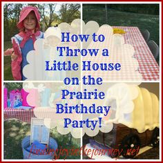 Here are some ideas to help you throw a Little House Birthday Party! Games, invitations, food and more!