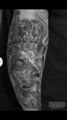 And then the lion of Judah on my thigh