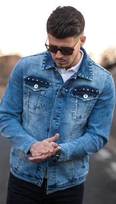 Geaca DENIM - PIKE - Albastra Denim Button Up, Button Up Shirts, Collection, Tops, Fashion, Jacket, Moda, La Mode, Chemises