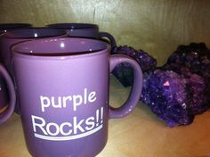 Purple coffee mugs