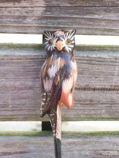 wood vintage owl letter opener by Granniebananie on Etsy, $6.00