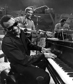 Ray Charles Robinson (September 1930 – June was an American singer-songwriter, musician and composer known as Ray Charles. He was a pioneer in the genre of soul music during the by fusing rhythm and blues, gospel, and blues styles. Music Film, Music Icon, Soul Music, Music Love, Music Is Life, My Music, Music Radio, Music Stuff, Ray Charles