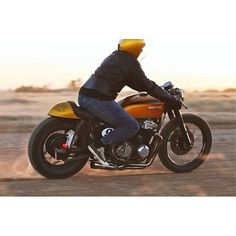 #riding #motorcycles #motos | caferacerpasion.com  Low Roller CB750 Kick Start Garage