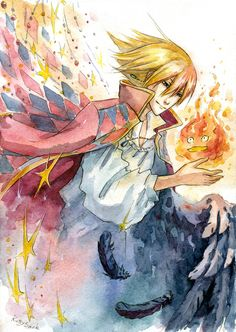 """Kiriban prize for Character - Howl from """"Howl's Moving Castle"""" by Hayao Miyazaki Sorry for waiting so extremely long! I'm really sorry T_T"""