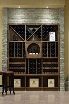 Stone Selex - Thin Brick Veneer Wine Cellar t's been recently yet another wine-filled twelve Glass Wine Cellar, Home Wine Cellars, Wine Cellar Design, Wine Cellar Basement, Under Stairs Wine Cellar, Wine Rack Wall, Wine Wall, Wine Shelves, Wine Storage
