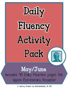 Intermediate Daily Fluency Activity Pack (May - June) $6