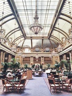 One of the most beautiful spots in San Francisco: The Palace Hotel's Garden Court.