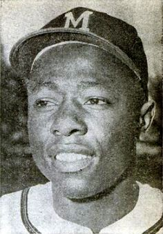 African American History / Black History. Hank Aaron - On April 23, 1954, Hank Aaron hit the first home run of his Major League Baseball career. On April 8, 1974, Aaron hit career home run number 715 off Los Angeles Dodgers pitcher Al Downing, breaking Babe Ruth's long-standing record of 714. - - Description: Milwaukee Braves outfielder and Hall of Famer: Hank Aaron in a 1960 issue of Baseball Digest. Date: December 1960. Source Baseball Digest, page 19, December 1960 issue. Author: unknown.