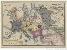 Comic map of the seat of war, 1854.More satirical maps >>