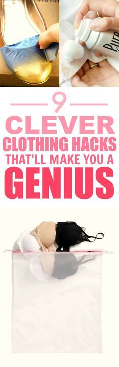 These 9 clothing hacks and tips are THE BEST! I'm so happy I found this AWESOME post! Now I can save money and keep my favorite outfits! I'm SO pinning for later!