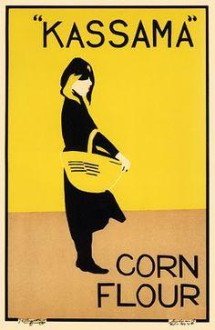 Beggarstaffs (Pictorial Modernism - British). Kassama Corn Flour, 1900.