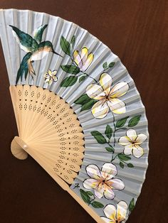 Spanish Projects, Beautiful Hands, Cherry Blossom, Decoration, Diy, Hand Fans, Flowers, Fabric, Painting