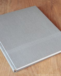 book binding finished on table