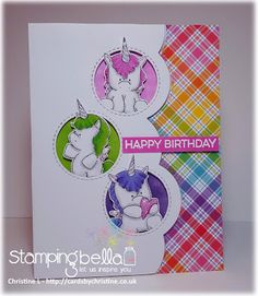 Spotlight On: September 2018 Stamp of the Month Unicorns at Stamping Bella! Kids Birthday Cards, Handmade Birthday Cards, Unicorns, Window Cards, Animal Cards, Card Making Inspiration, Custom Cards, Birthday Balloons, Kids Cards