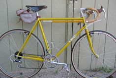 mustard yellow bike