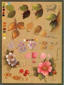 Blossoms and leaves step sheet by Jo Sonja.
