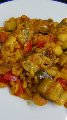Ratatouille, Chana Masala, Paella, Healthy Eating, Ethnic Recipes, Food, Vegetable Rice, Cheesecake Recipes, Stew