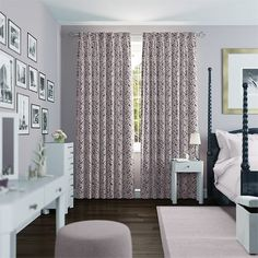 Toronto Fall Pale Violet Curtains