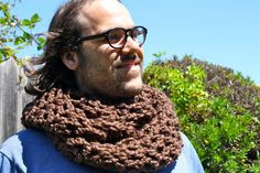 Check out my new Etsy shop, Sweet Bohemia Long Double Crochet Infinity Scarf -Brown
