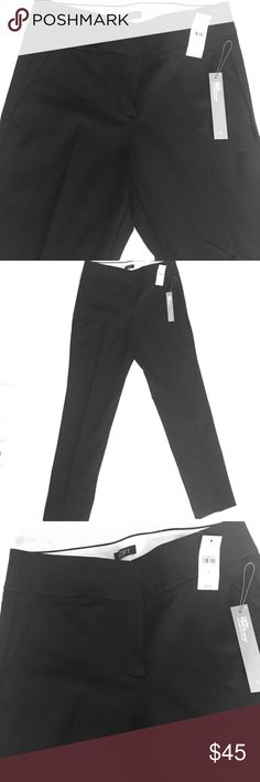 "LOFT | Marisa Pencil Black Ankle-Length Trousers NEW (with tags)! Ann Taylor LOFT Black Marisa Pencil Stretch Pants in Size 2. Super sleek and comfortable pencil pants that run straight through the hip and thigh and taper at the ankle.  - Zip fly with hook-and-bar closure  - Belt loops - Slash pockets and rear welt pockets  - Coin pocket beneath waistband - Inseam: 28"" LOFT Pants Ankle & Cropped"