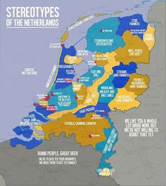 Good old stereotyping  #netherlands #cliche #dutch #holland #map #bias #funny #flatlands
