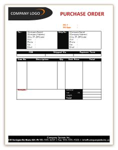 Blank Po Form Blank Purchase Order Form  Purchase Order Templates  Pinterest