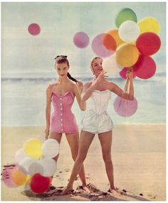Balloons, Beach, Bathing Suits..