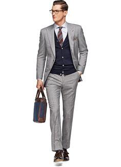 Suit Light Grey Plain Washington P3727 | Suitsupply Online Store