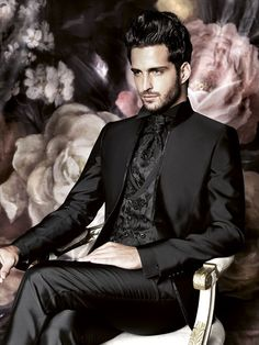Groom Fashion 2016 - 15 Haute Couture Outfits for the fashion conscious man Haute Couture Outfits, Couture Fashion, Gothic Wedding, Wedding Men, Wedding Suits, Gothic Men, Mens Fashion Suits, Groom Fashion, Groom Style