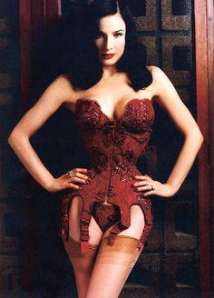 a43b9e4646 Green brocade corset. See more. Dita Von Teese is amazing. Dita Von Teese  Burlesque