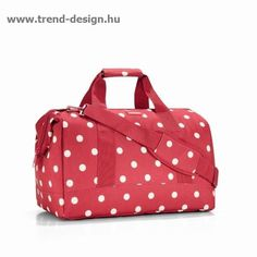reisenthel Allrounder L Large Weekender Bag, Versatile Padded Duffel, Ruby Dots Barrel Bag, Travel Bags For Women, Weekender Tote, Duffel Bags, Carry On Luggage, Purses And Bags, Diaper Bag, Gym Bag, Shoulder Bag