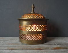 Love this brass container!