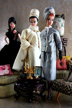Vintage Barbie's. OMG! This is fashion paradise to little girls and big girls as well.